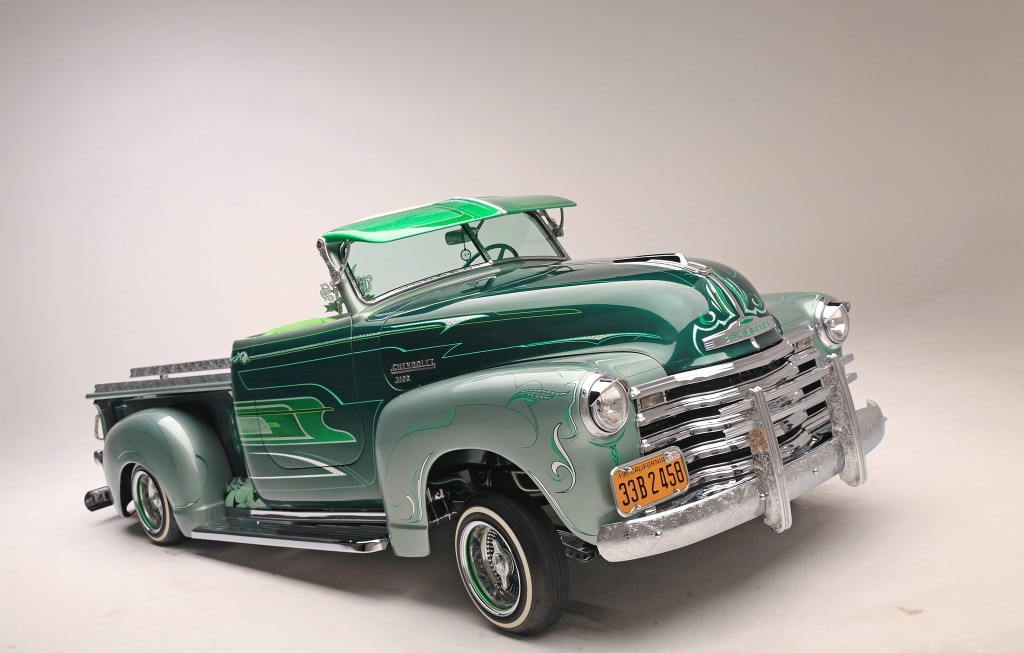 1950 chevrolet 3100 stepside topped off front end