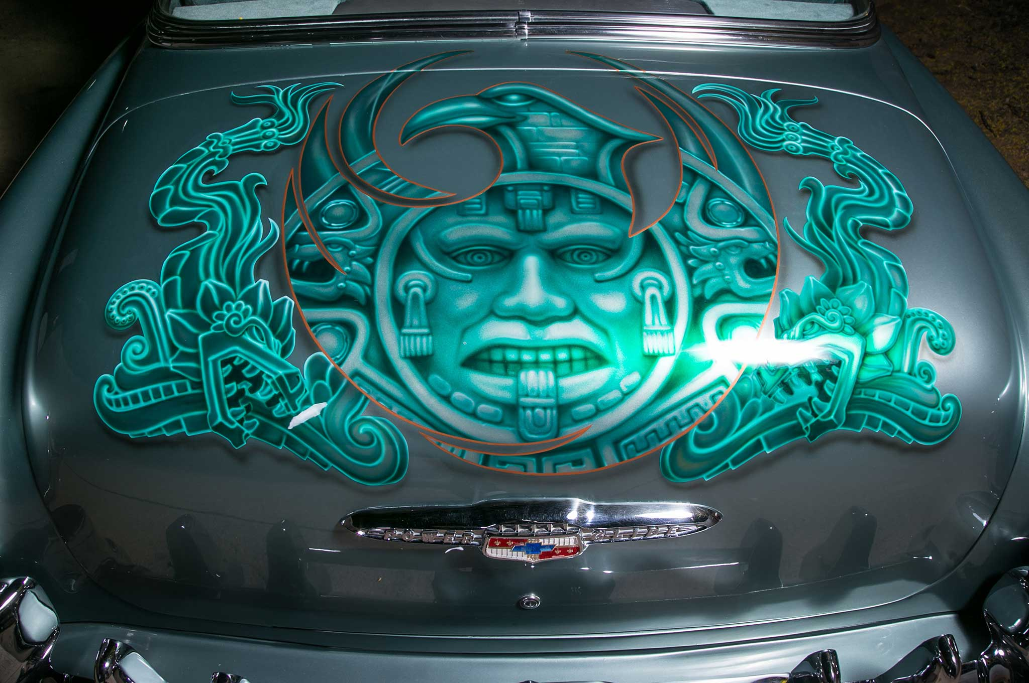 Chevy Aztec Themed Trunk Mural