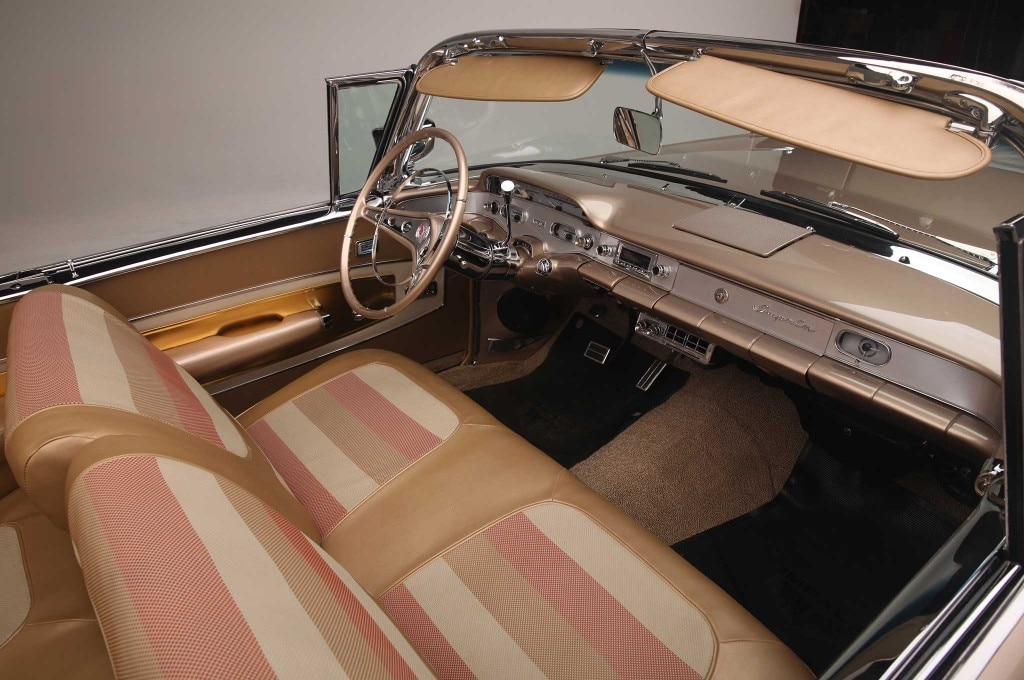 1958 chevrolet impala convertible dash front seats