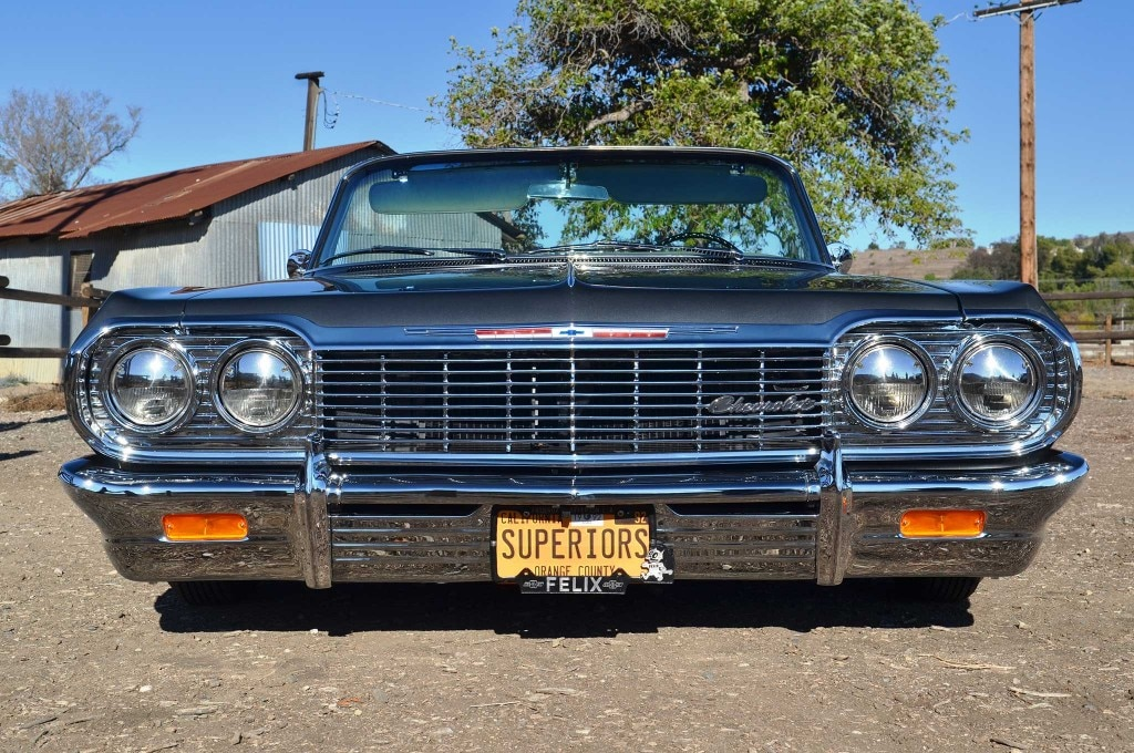 1964 chevrolet impala ss convertible front grill 008