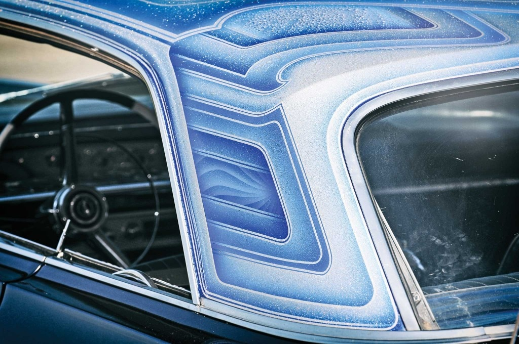The multiple blue 'flaked top complements the Midnight Blue Impala body.