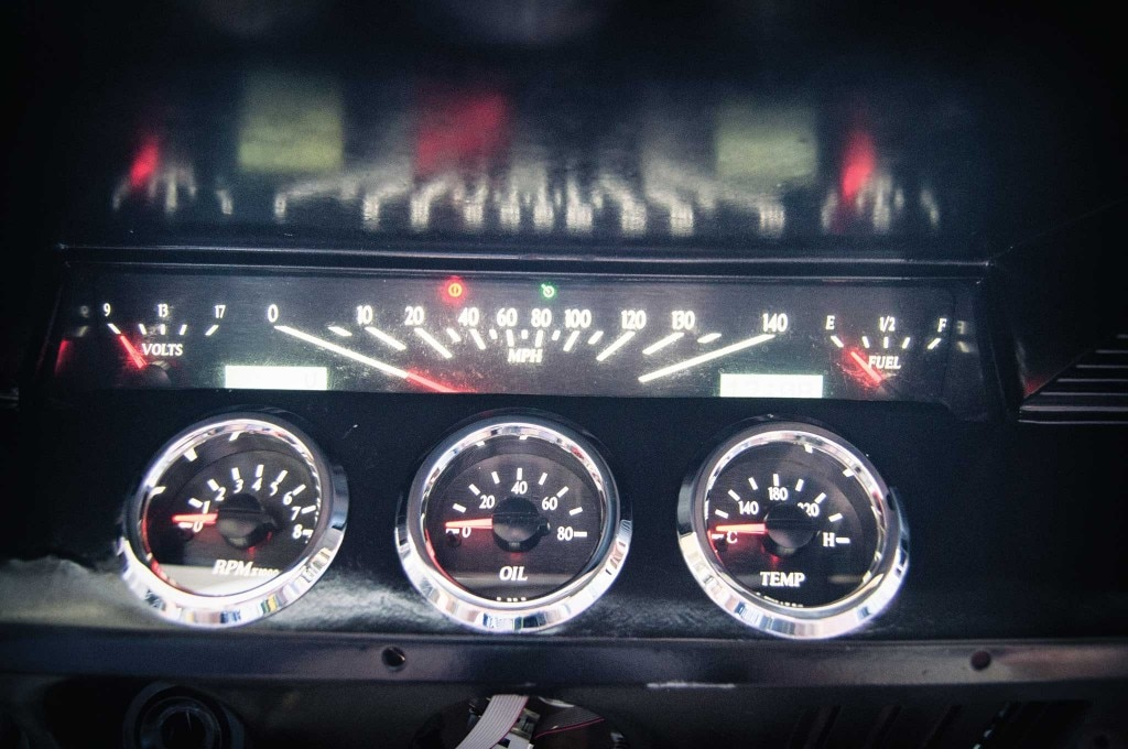 61 impala dakota digital gauge led taillight install gauges 009