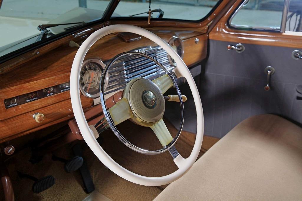 1947 chevrolet sedan delivery banjo steering wheel