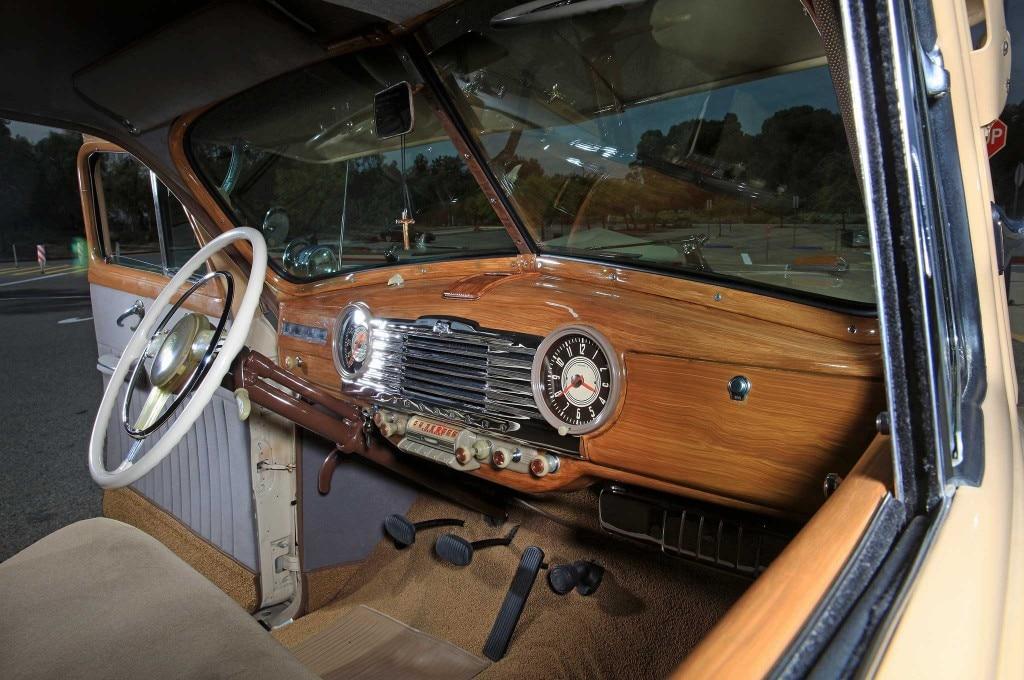 1947 chevrolet sedan delivery wood grain dash