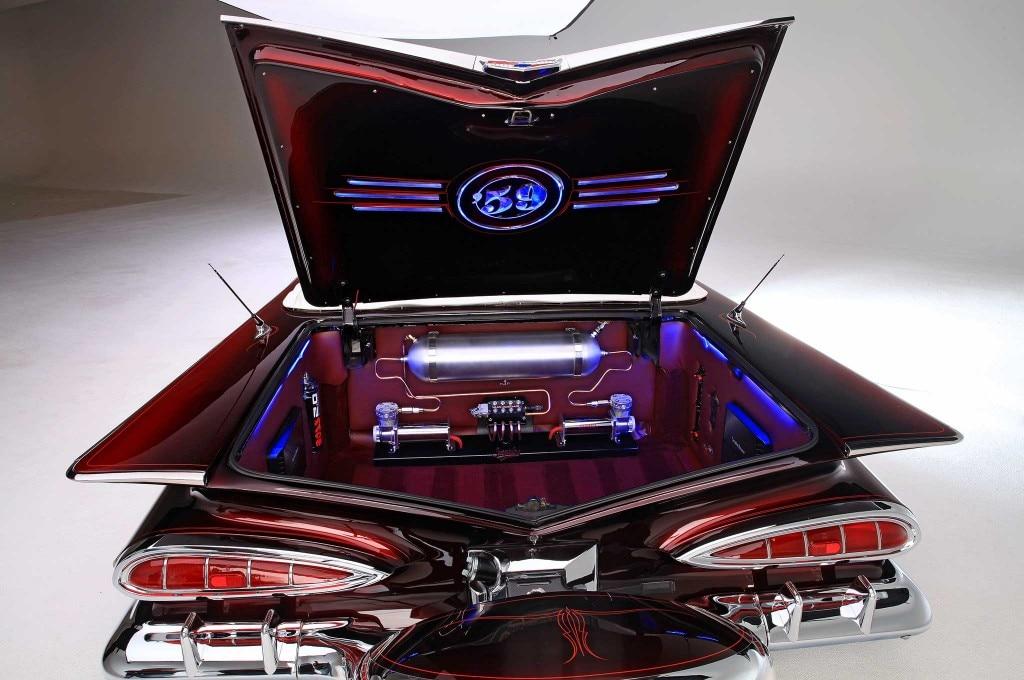 1959 chevrolet impala convertible open trunk