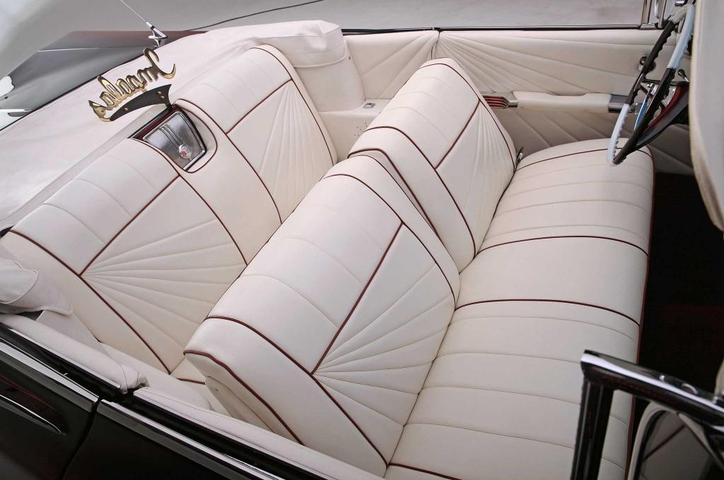 1959 chevrolet impala convertible white seats leather