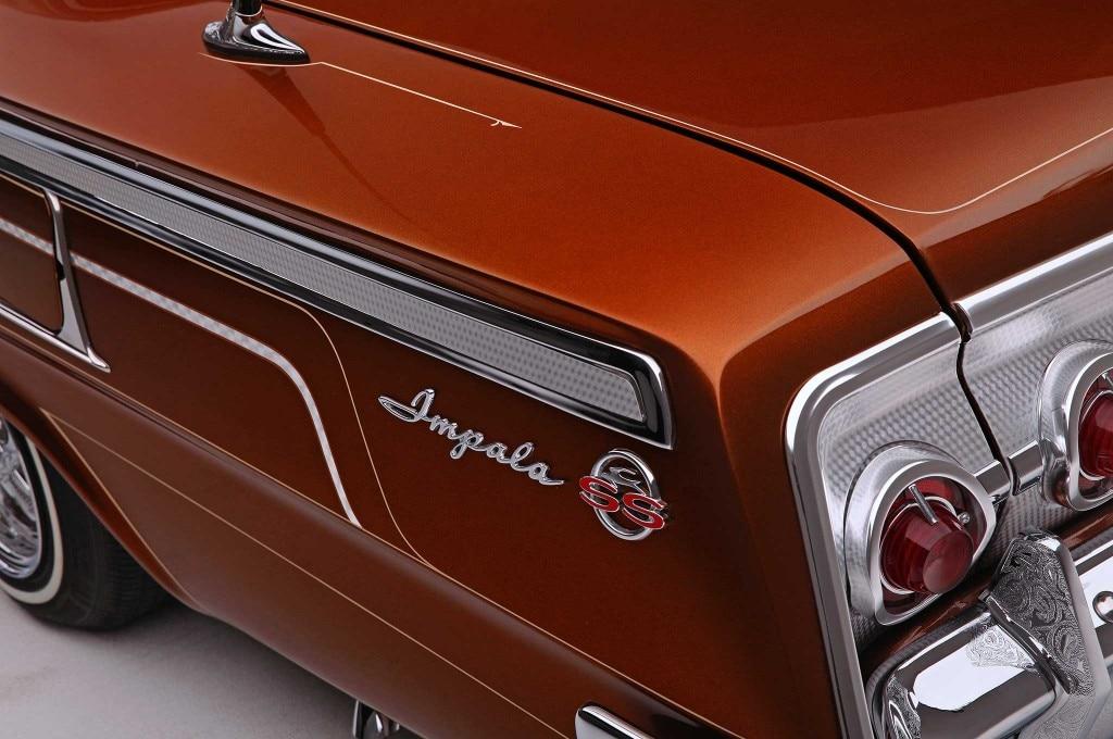 1962 chevrolet impala quarter panel emblem ss