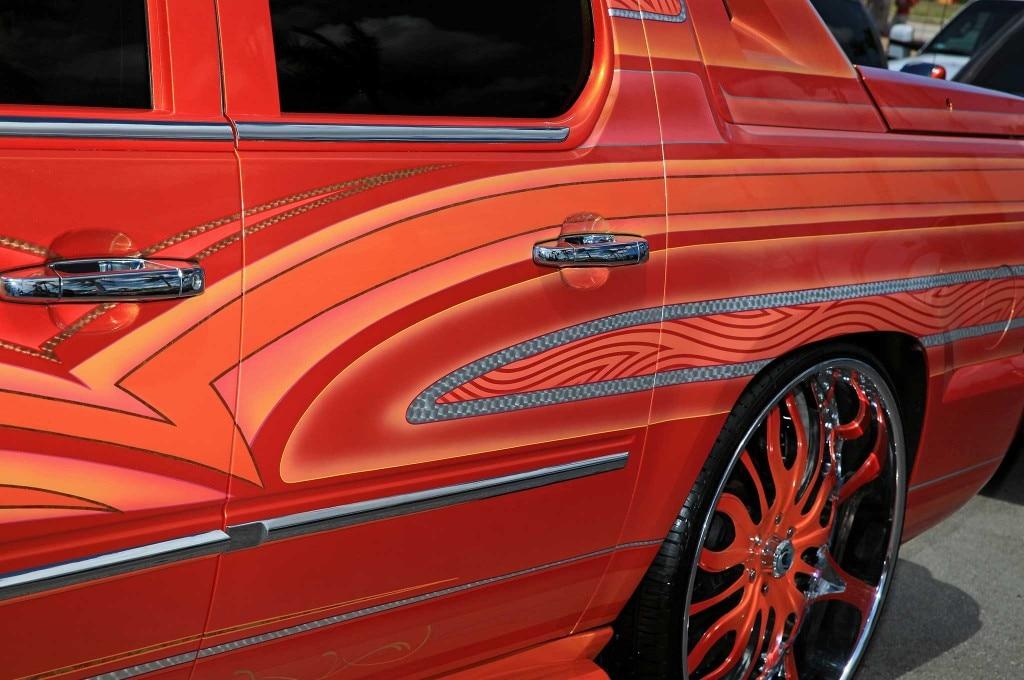2009 cadillac escalade ext rear door quater panel pattern fade thumb print paint