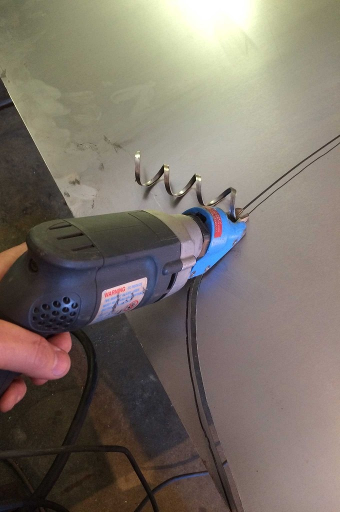 diy firewall install firewall cutting 007