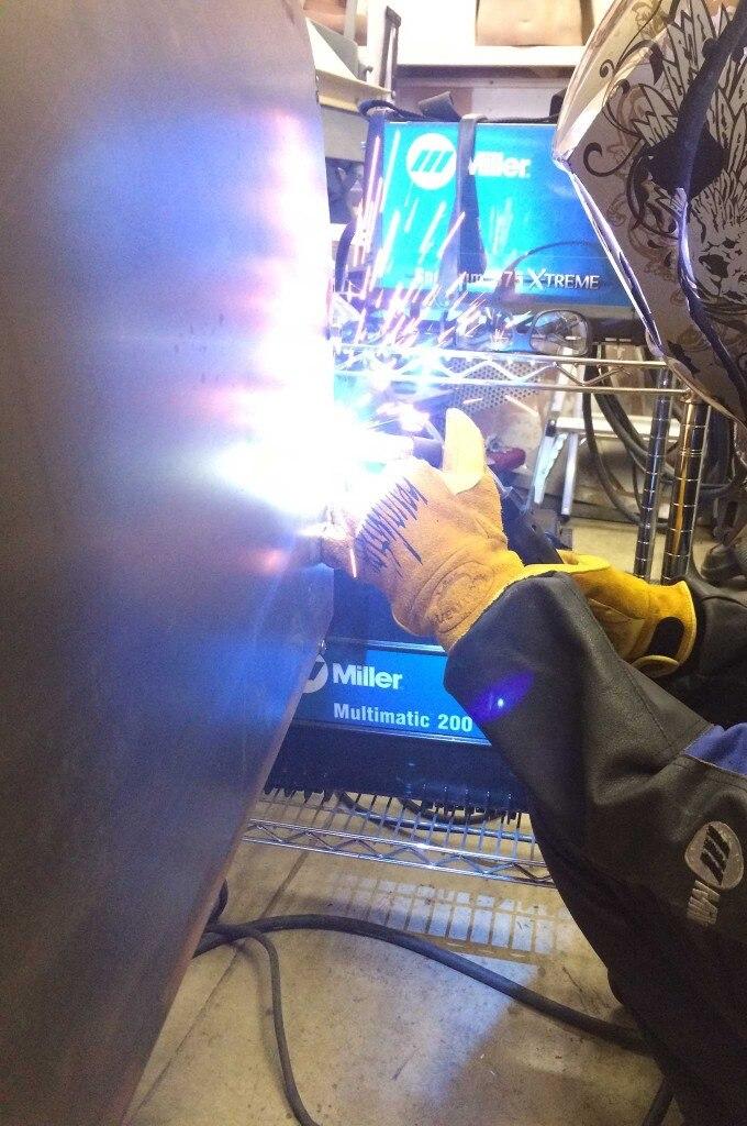 diy firewall install new panel welding 008