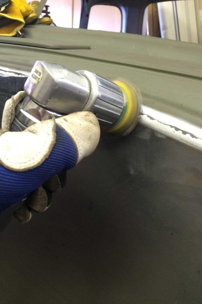 diy firewall install weld sanding 011