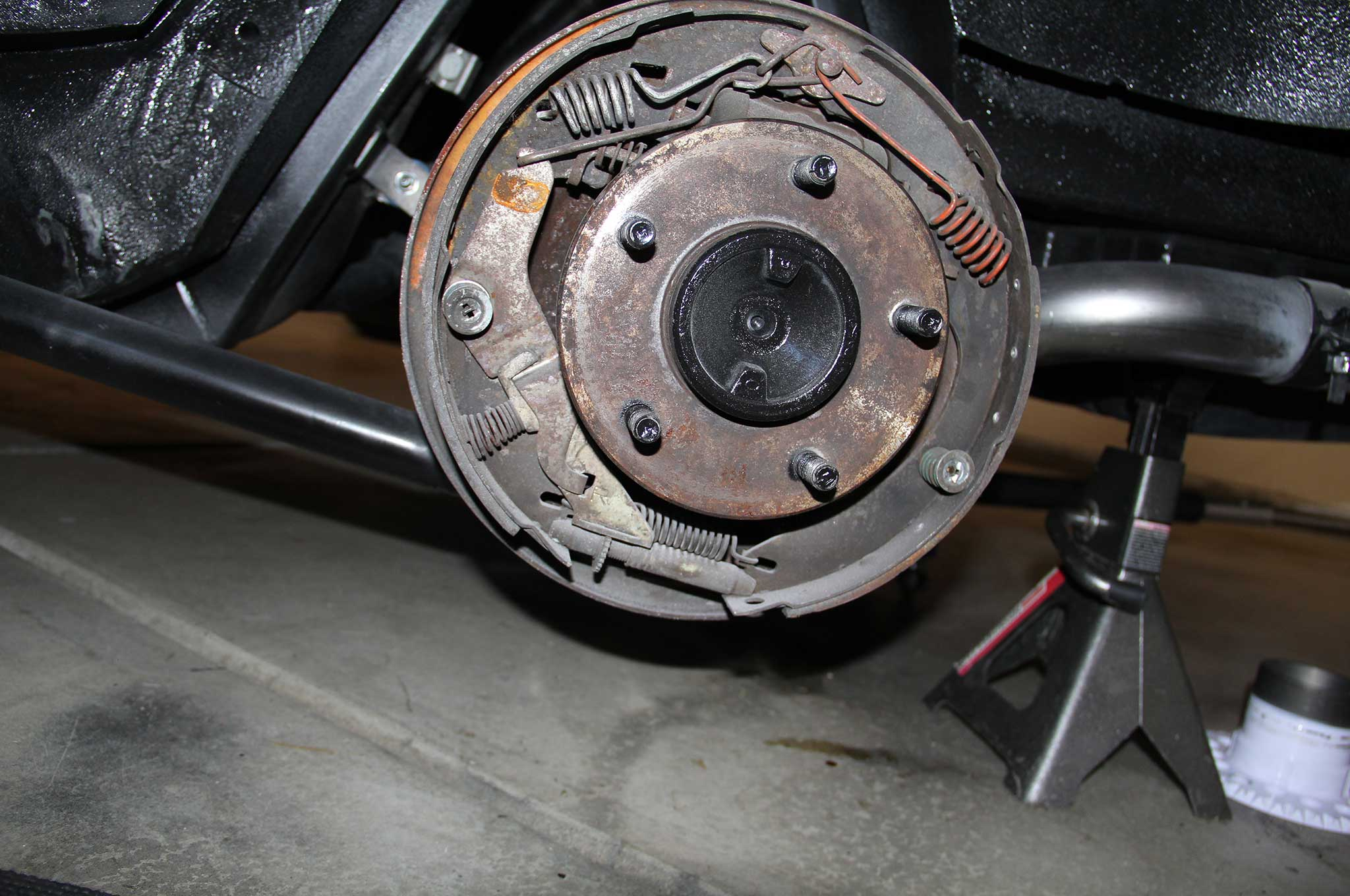 Gm Model Drum To Disc Brake Conversion Drum Cover Removed on 95 Chevy Rear Brake Diagram