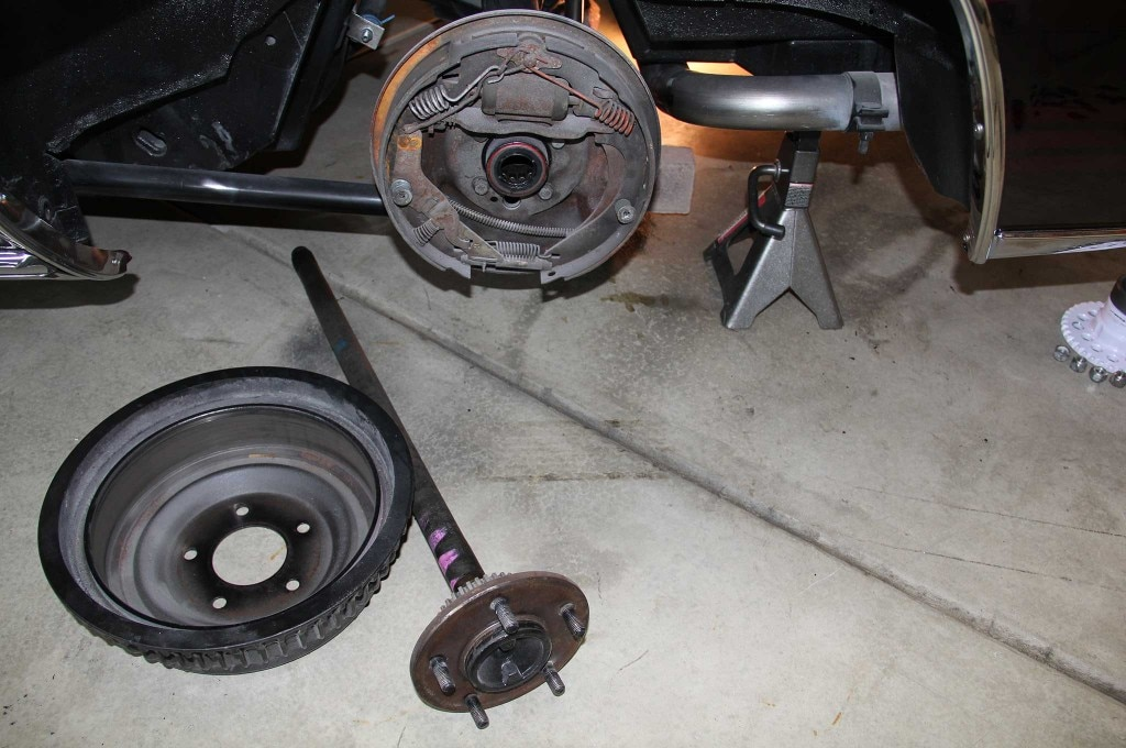 gm model drum to disc brake conversion vacuum drum plate 007