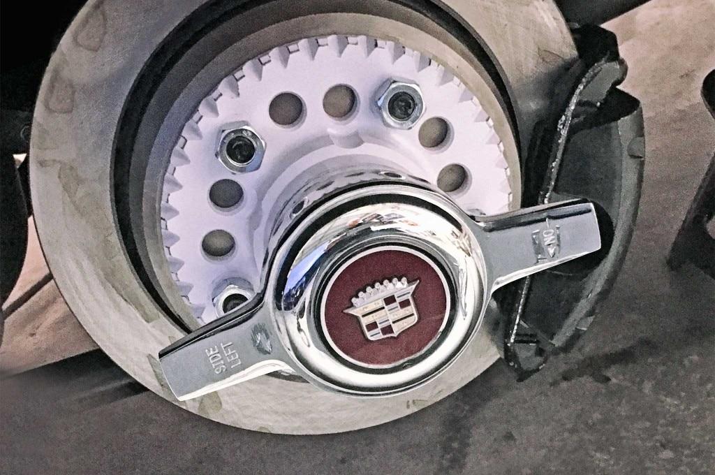 gm model drum to disc brake conversion wheel reinstall 012