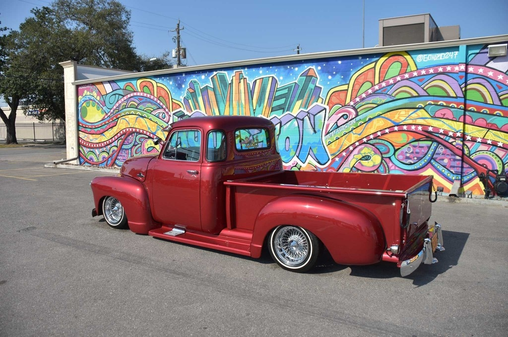1955 chevrolet 3100 driver side rear view