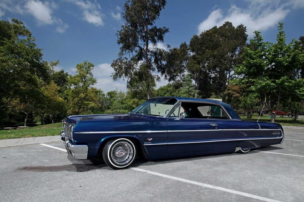 1964 chevrolet impala laid down