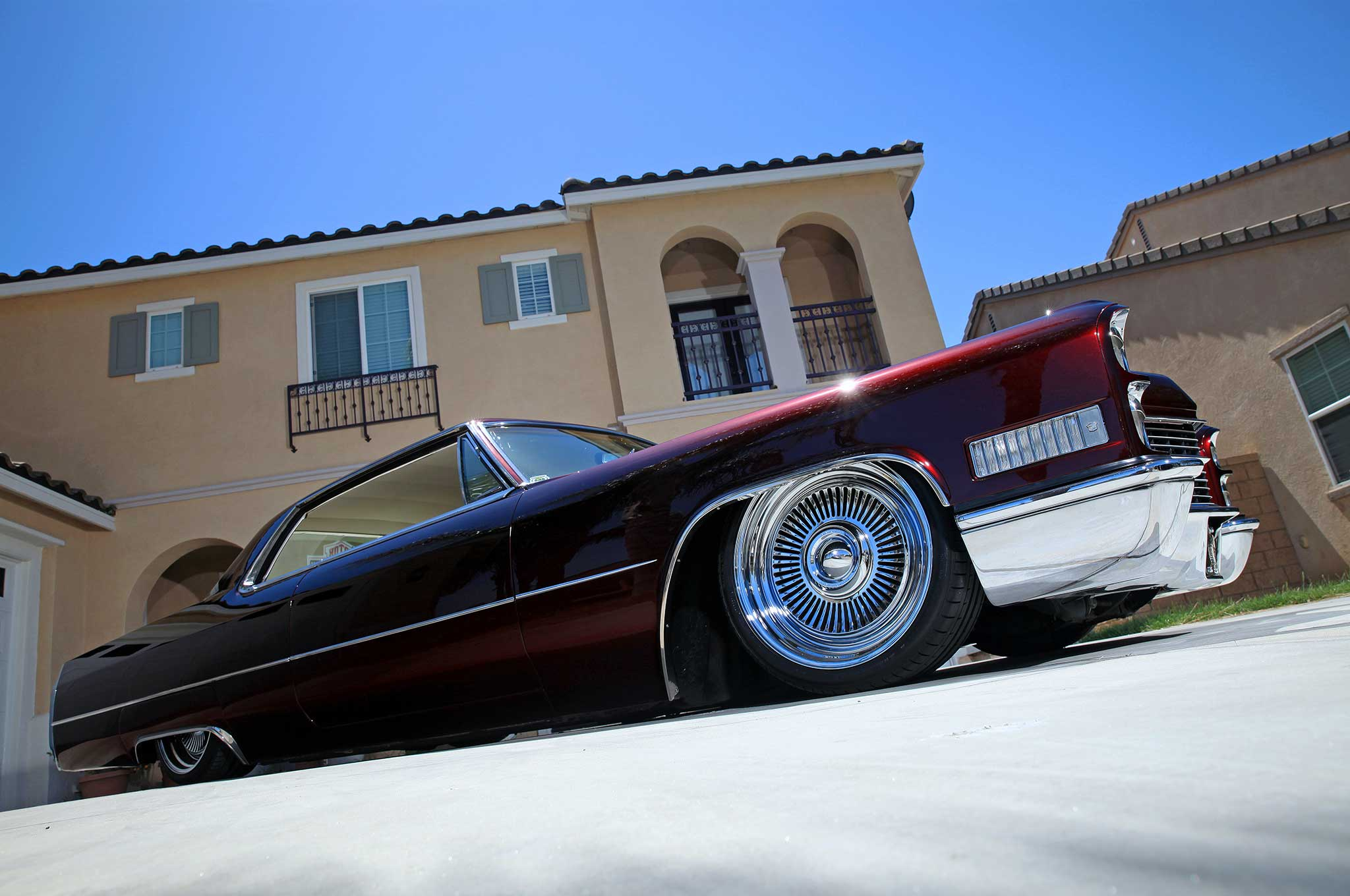Riding a Clic Cadillac Coupe to Spend Time with His Kids