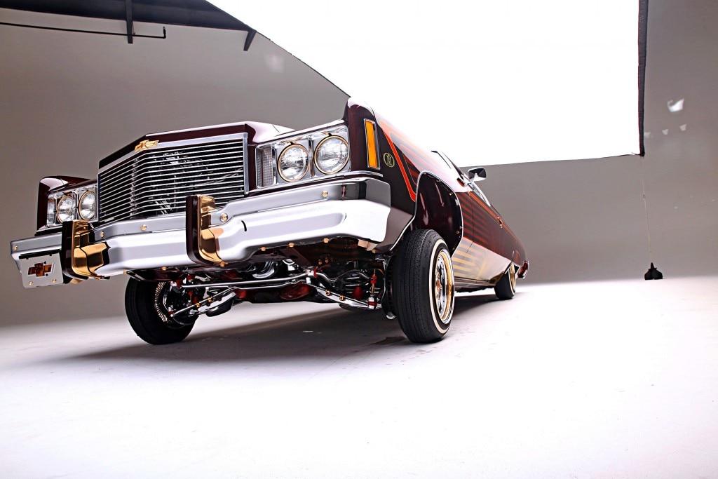 1975 chevrolet impala glasshouse front low shot