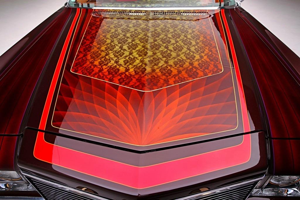 1975 chevrolet impala glasshouse hood lace fan patterns