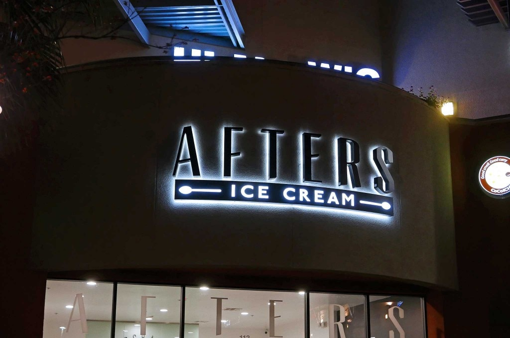 afters ice cream sign