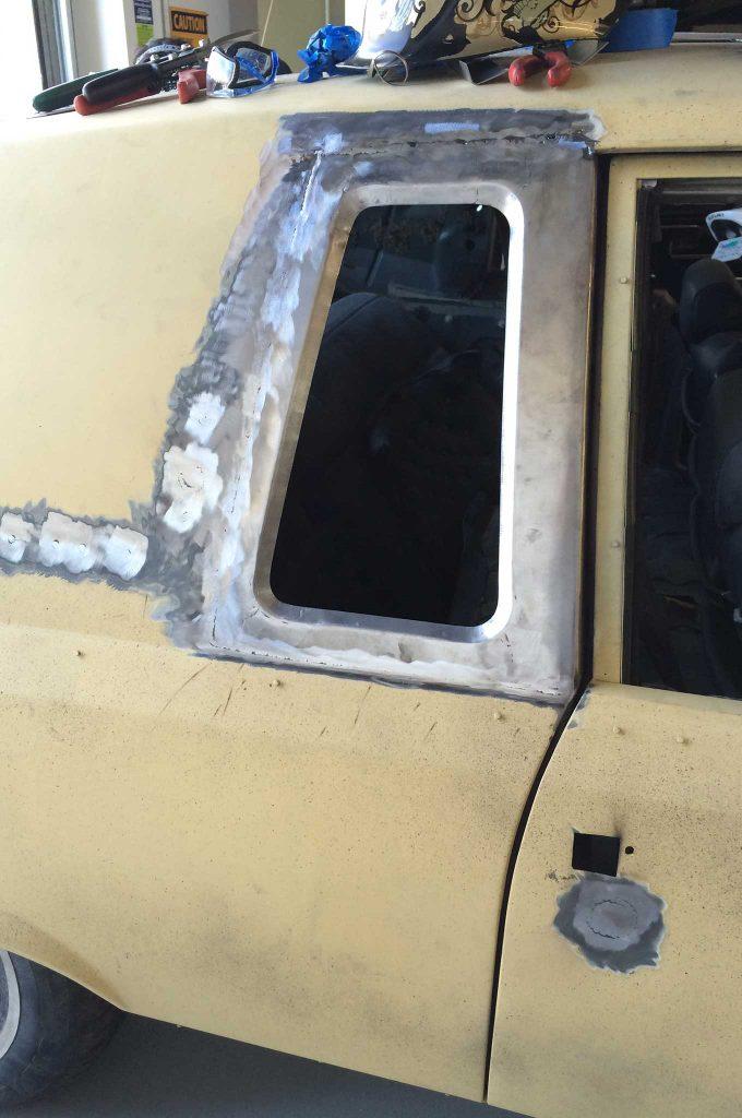 cadillac fleetwood brougham metal fab upgrade new window piece welding