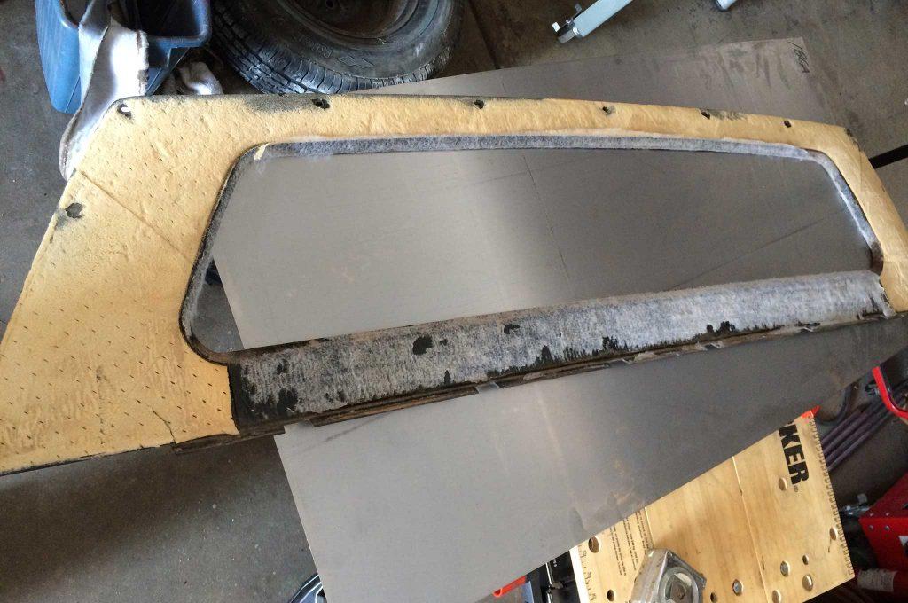 cadillac fleetwood brougham metal fab upgrade stock rear window