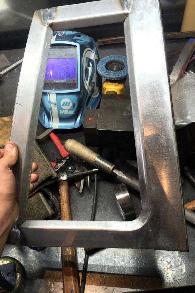 cadillac fleetwood brougham metal fab upgrade weld joint flatting