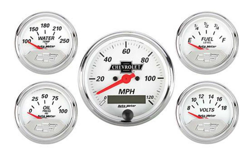 auto meter gauges vintage chevy heritage gauges