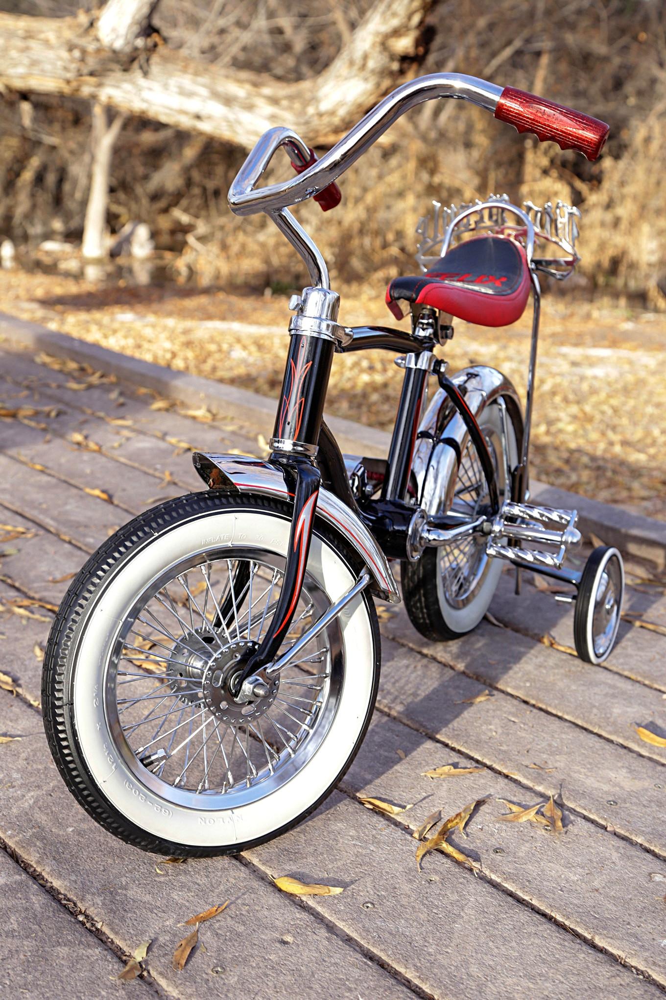 ebcd160ad45 schwinn lil tigers black bike whitewall tire - Lowrider