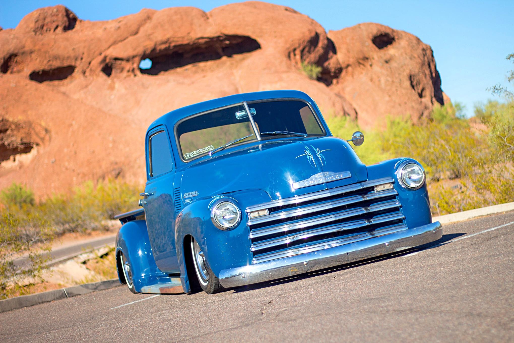 Chad Fincher's Slammed 1950 Chevy 3100 Truck