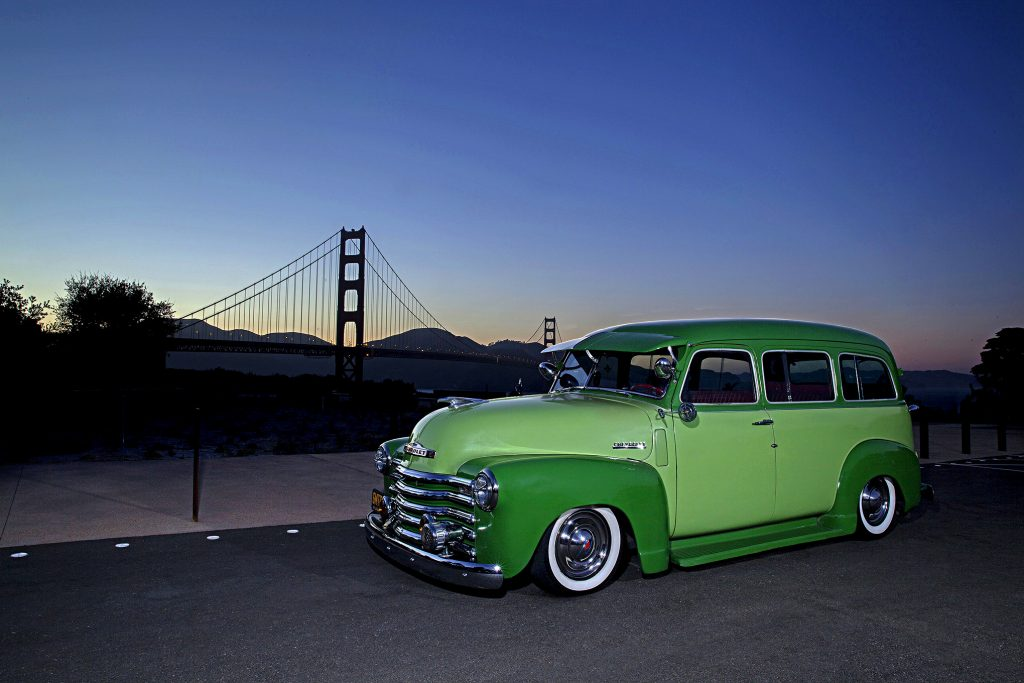 1952 chevrolet suburban golden gate bridge