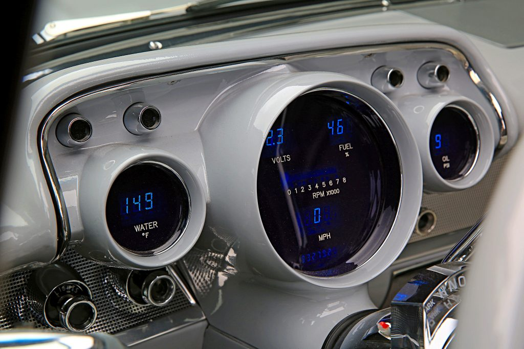 1957 chevrolet bel air convertible dakota digital gauges