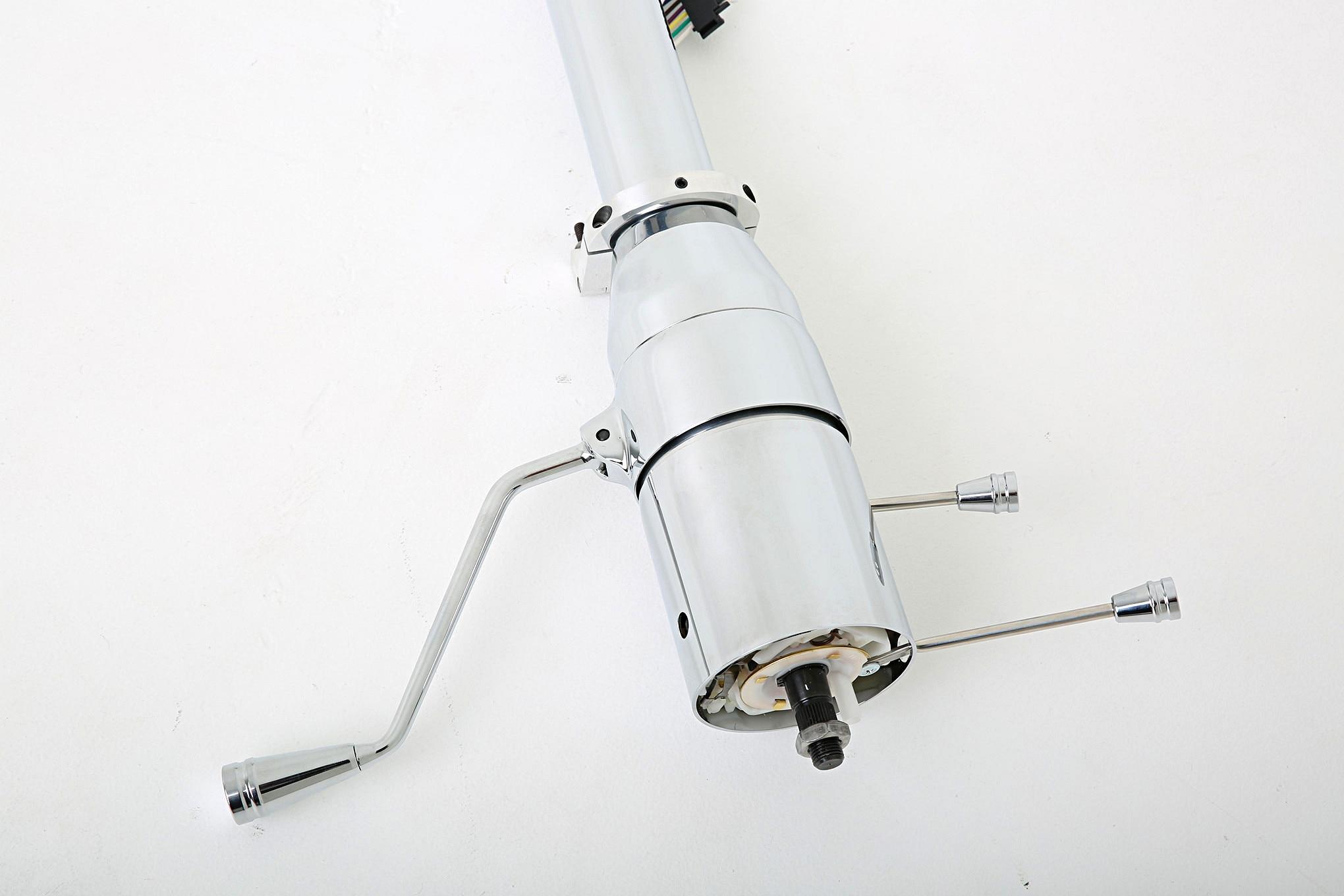 ididit universal tilt series chrome steering column 010
