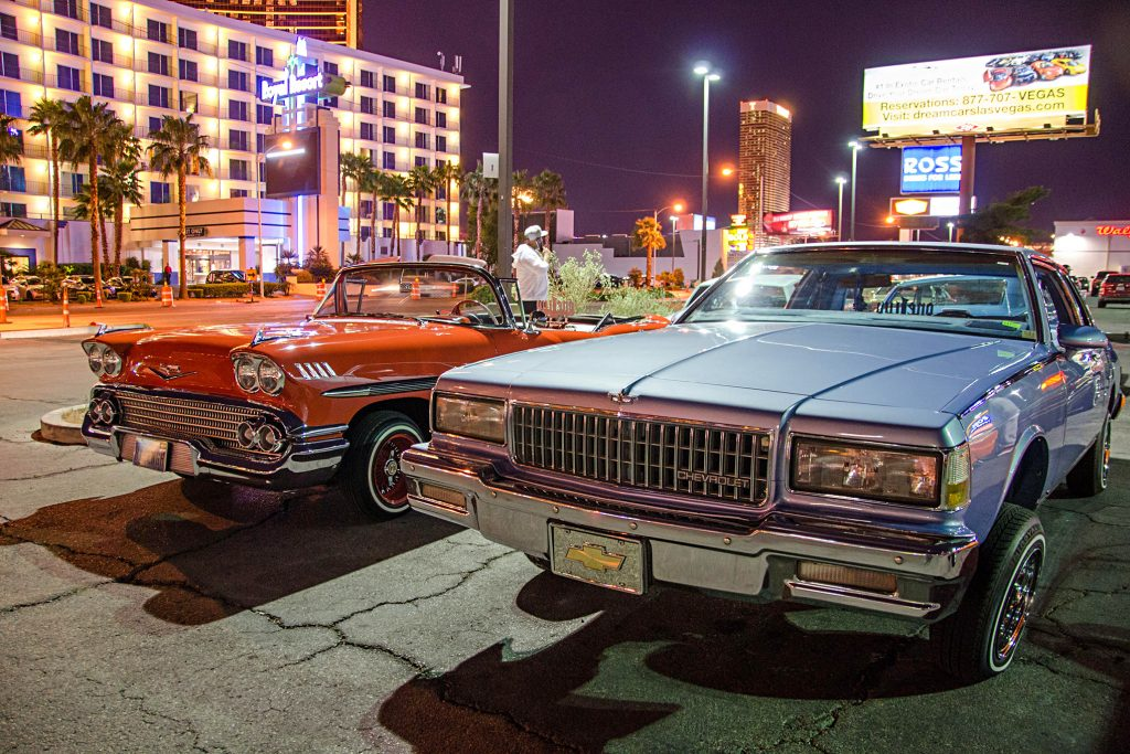 las vegas cruise night 1958 impala box chevy