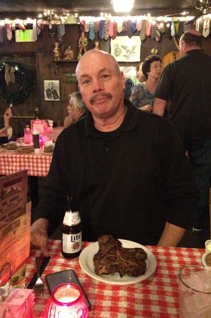 LOWRIDER Editor-in-Chief, Joe Ray enjoying a nice big steak.
