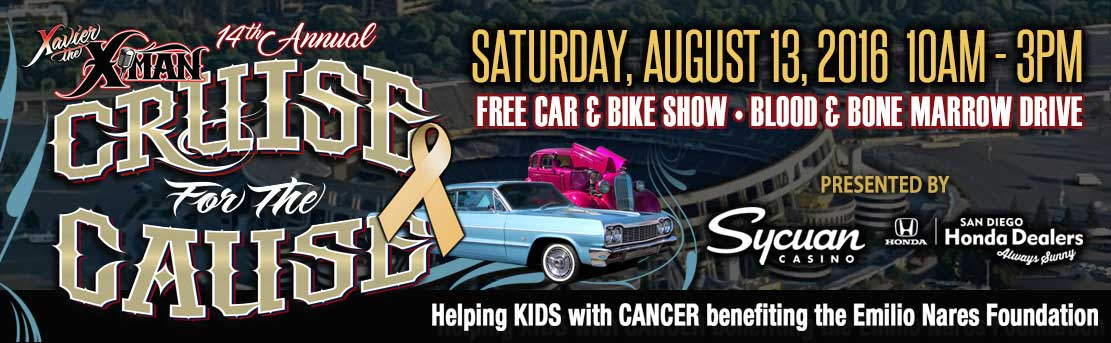 X Man Cruise For The Cause Banner Lowrider