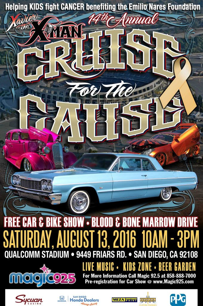 x man cruise for the cause flyer