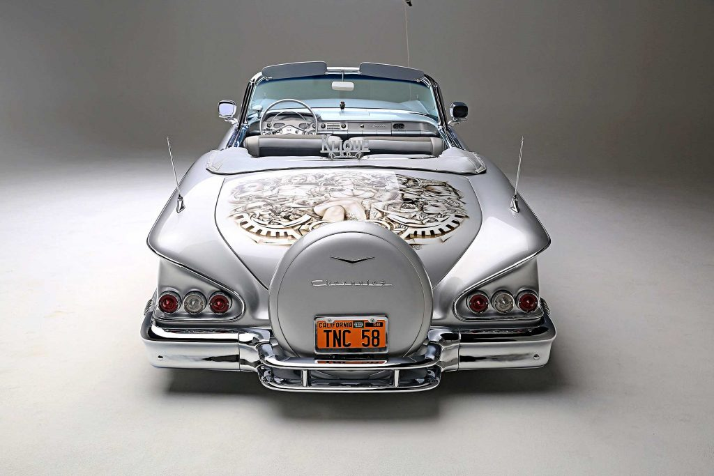 1958 chevrolet impala convertible continental kit
