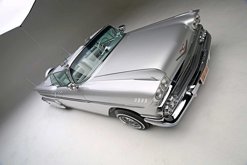 1958 chevrolet impala convertible top passenger side