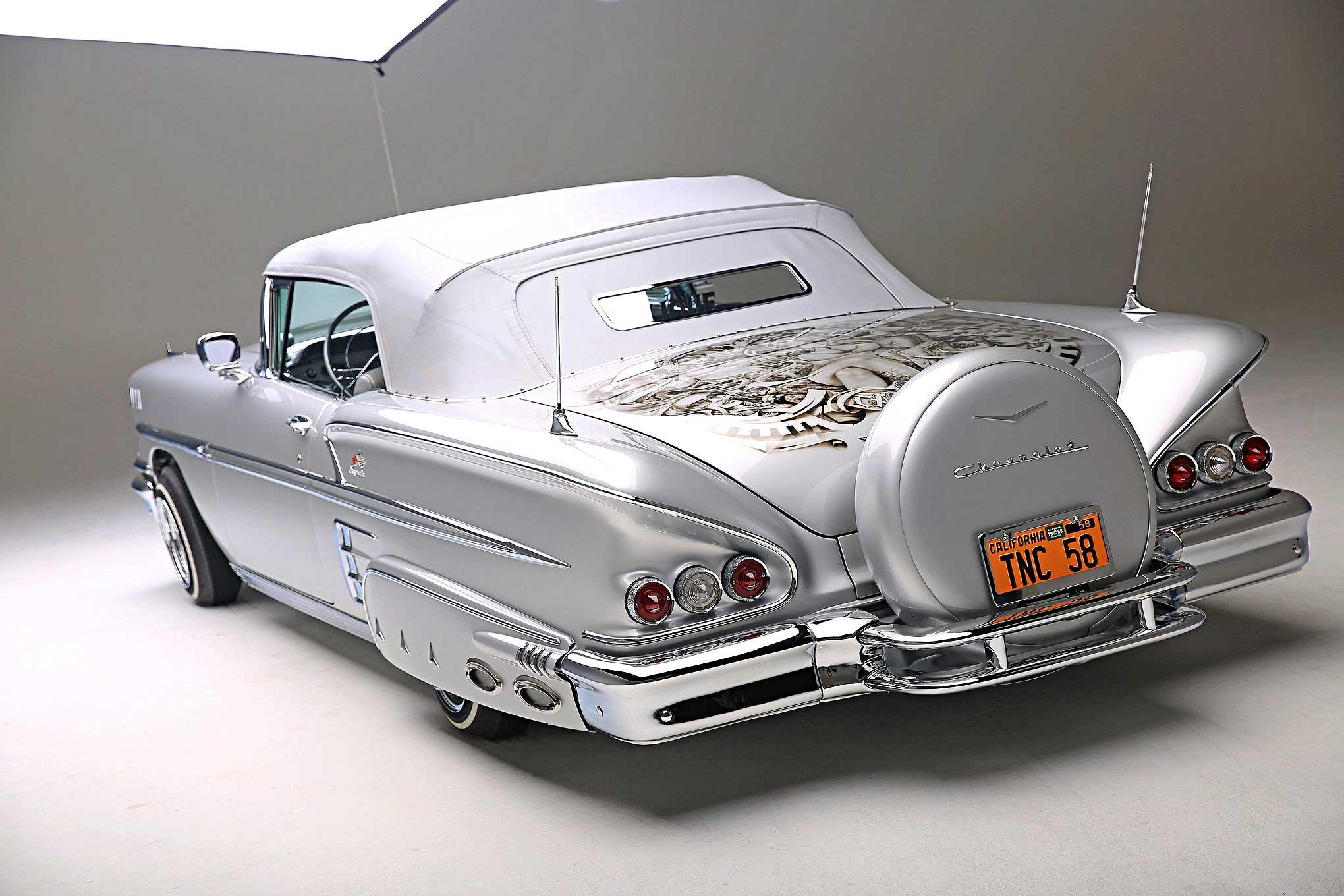 Chevy Impala White Paint