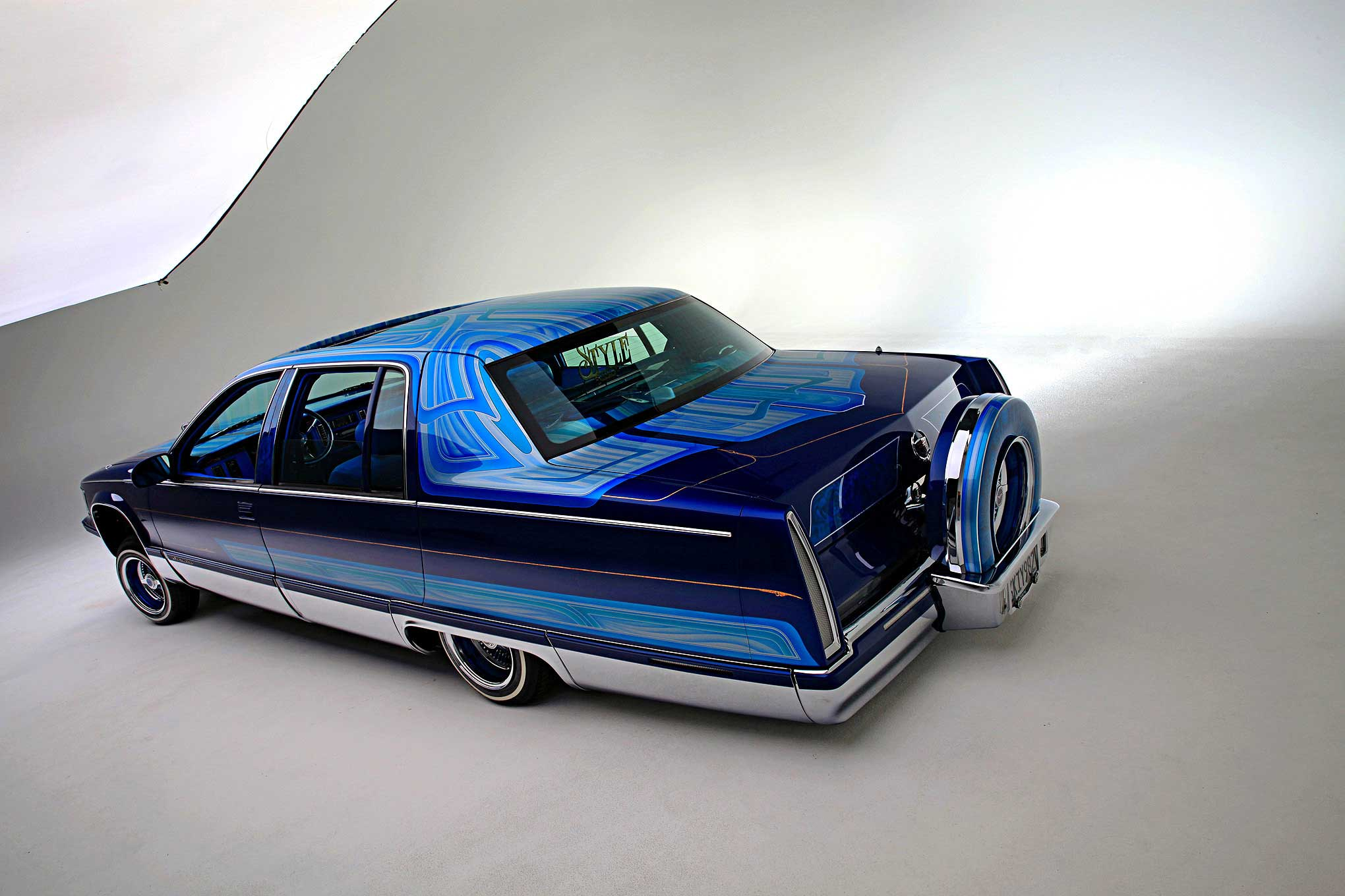 1995 cadillac fleetwood rear view lowrider 1995 cadillac fleetwood rear view