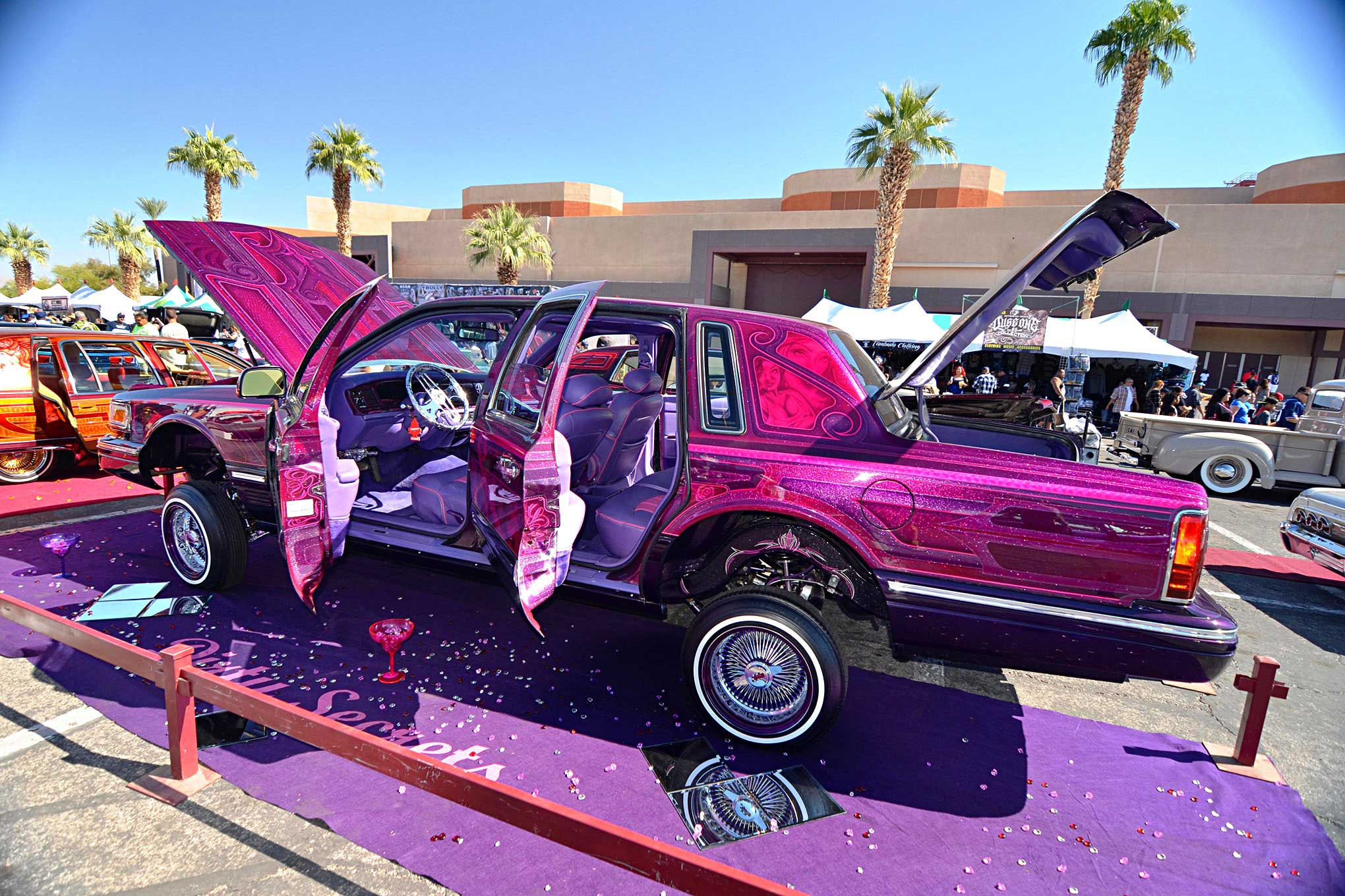 Lincoln Town Car 2016 >> 2016 Las Vegas Super Show Burgunday Lincoln Towncar Lowrider