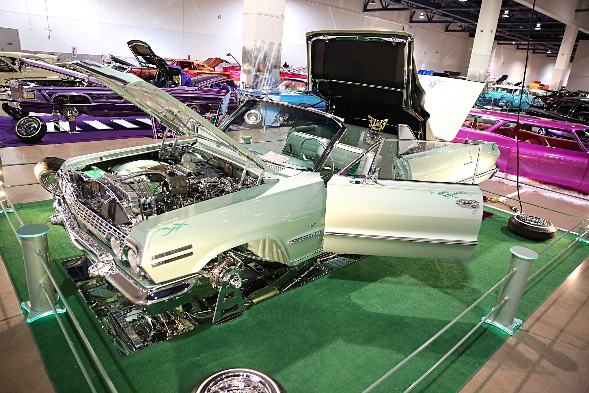 2016 Las Vegas Super Show Elite Car Club 1963 Chevy Impala Convertible