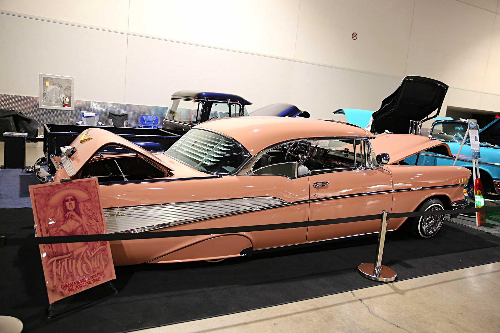 2016 Las Vegas Super Show Oldies Pink 1957 Chevy Bel Air Lowrider Impala
