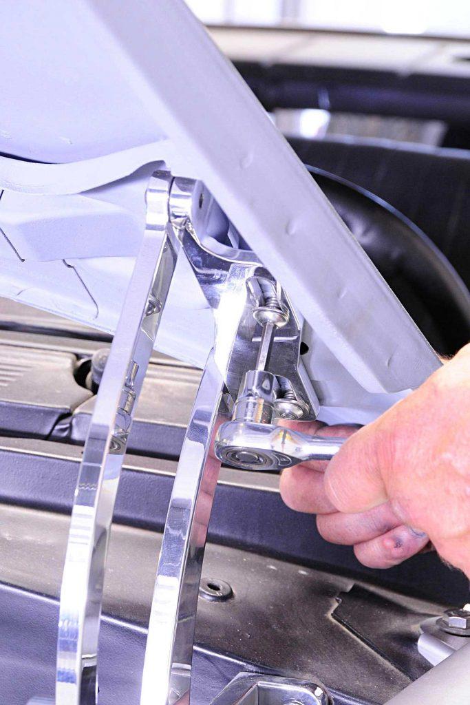 eddie motorsports billet goodies hood mounting
