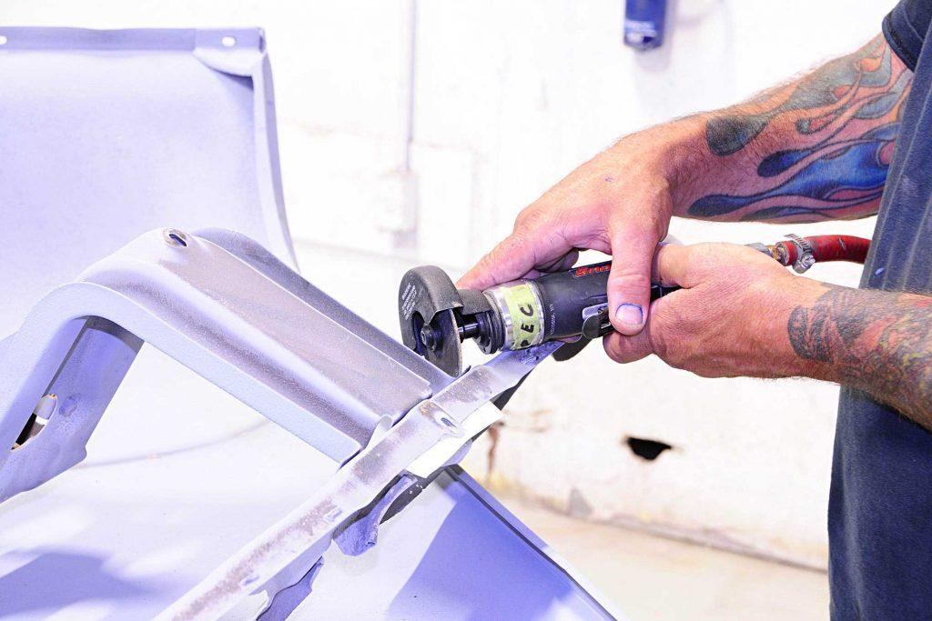 eddie motorsports billet goodies rivet grinding