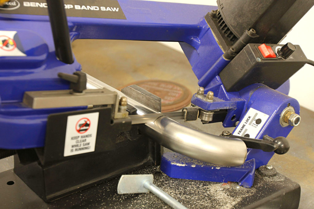 how to make custom coolant lines using exhaust tubing eastwood bandsaw
