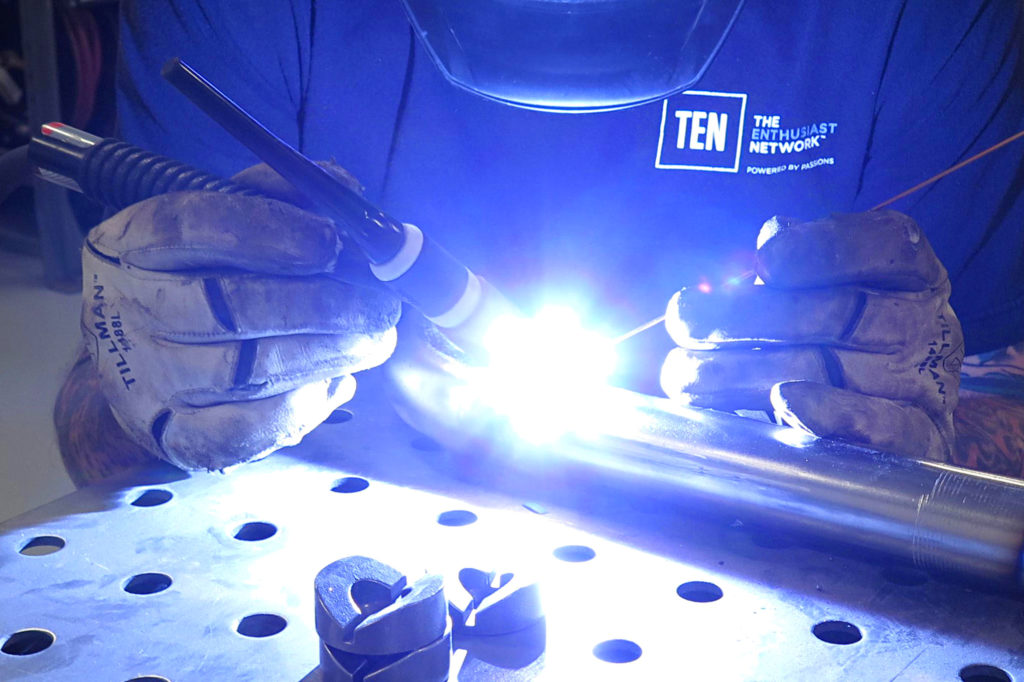 how to make custom coolant lines using exhaust tubing exhaust tubing tig welding