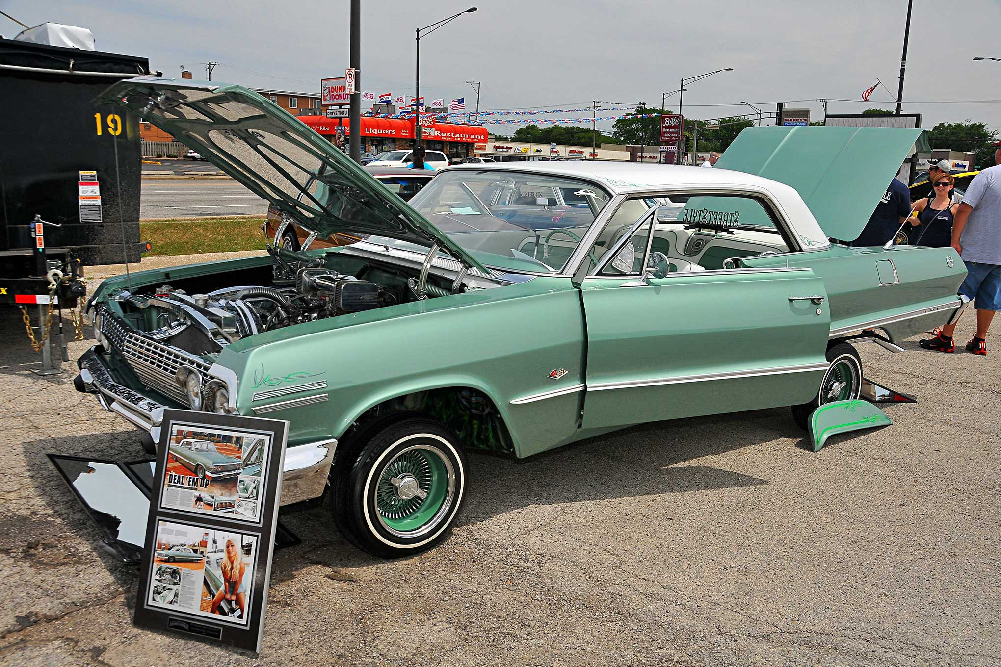 independent chicago car show mint green 1963 impala Lowrider