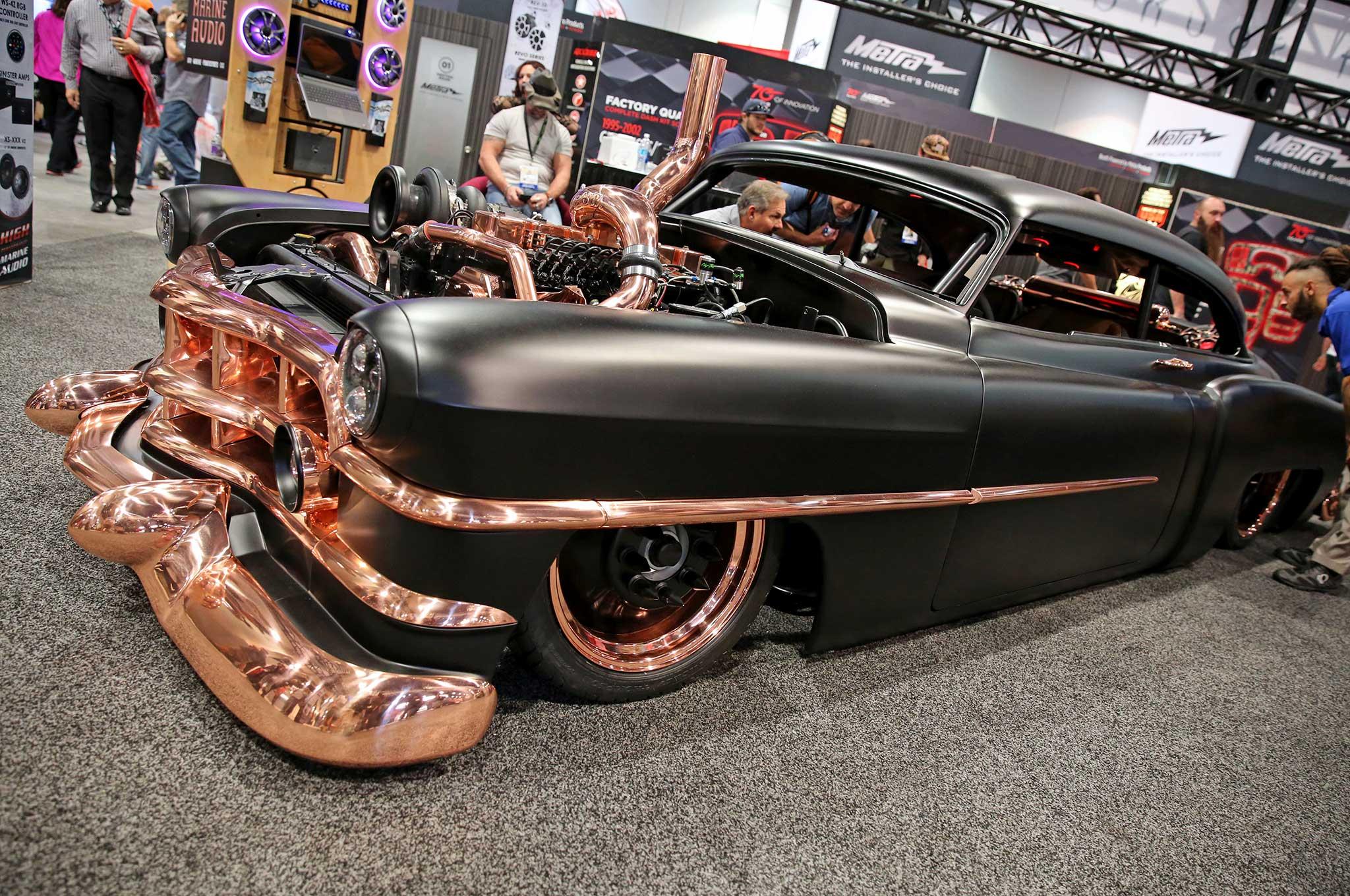Cummins-Powered 1950 Copper Cadillac at SEMA 2016 #TENSEMA16